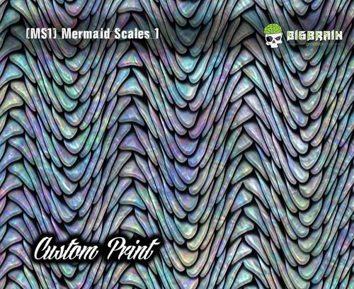 Mermaid Scales Rainbow Fish Scales Custom Hydrographics Film Print Big Brain Graphics Printing Custom Film