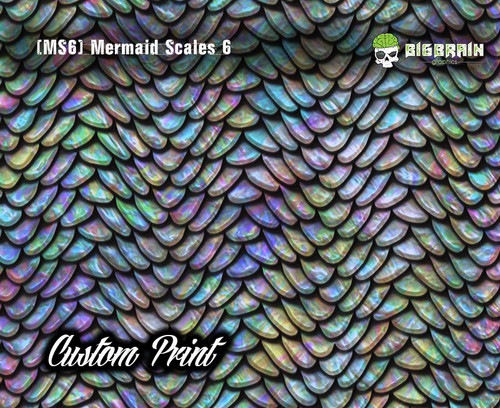 Mermaid Scales Rainbow Fish Scales (MS6B) Custom Hydrographics Film Print Big Brain Graphics Printing Custom Film Pastel