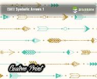 Symbolic Arrows 1 Indian Arrows Custom Printed Film Hydrographics Film Pattern Big Brain Graphics
