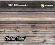 Old Rustic Barnwood 4 (OB17) Barn Wood Tattered Knotty Aged Hydrographic Film Hydrographics Custom Printed Film Big Brain Graphics