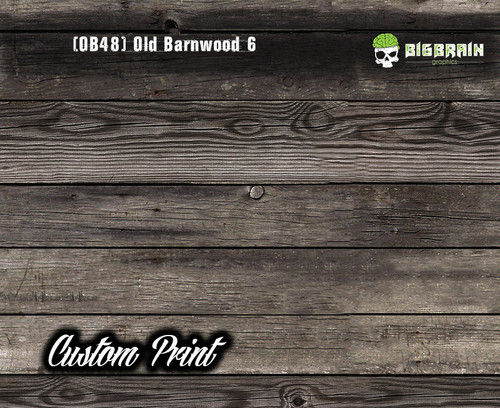 Old Rustic Barnwood 6 (OB48) Barn Wood Tattered Knotty Aged Hydrographic Film Hydrographics Custom Printed Film Big Brain Graphics