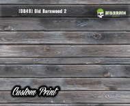 Old Rustic Barnwood 2 (OB49) Barn Wood Tattered Knotty Aged Hydrographic Film Hydrographics Custom Printed Film Big Brain Graphics