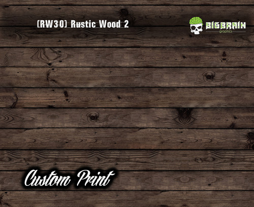 Old Rustic Wood Realistic Woodgrain Rustic Wood 2 (RW30) Hydrographics Custom Printed Hydrographic Film Big Brain Graphics
