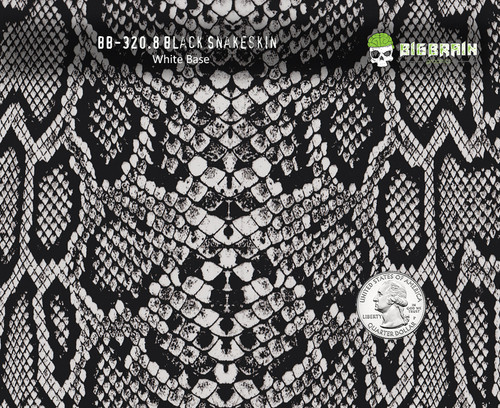 Black Clear Snake Snakeskin Reptile Hydrographics Film Pattern Buy White Base Big Brain Graphics Quarter Reference