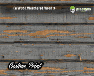 Old Rustic Weathered Wood 3 (WW35H) Horizontal Wood Realistic Woodgrain Multi Color Painted Deck Hydrographics Custom Printed Hydrographic Film Big Brain Graphics