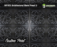 Architectural Tile 3 (AP183) Metal Abstract Ceiling Panel Custom Printed Hydrographics Film Hydrographic Big Brain Graphics