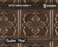Tooled Leather Etched Leather 2 (EL170) Detailed Leather Panel Custom Printed Hydrographic Film Hydrographics Big Brain Graphics Trusted Seller