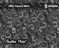 Etched Metal 1 Custom Printed Design 3D Detail (EM8) Metal Hydrographics Print Dip Film Big Brain Graphics Brushed Bricks Metal