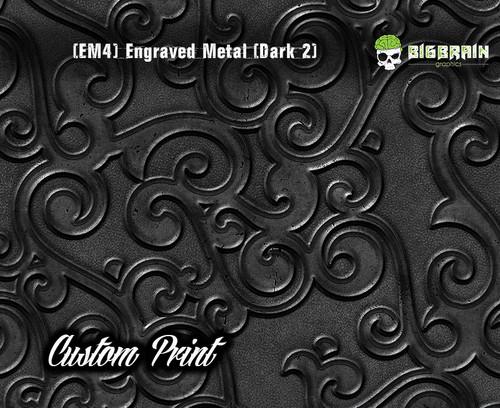 Etched Metal Dark 2 Custom Printed Design 3D Detail (EM4) Metal Hydrographics Print Dip Film Big Brain Graphics Brushed Bricks Metal