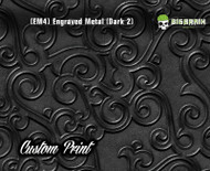 Etched Metal Dark 2 Custom Printed Design 3D Detail (EM4) Metal Hydrographics Print Dip Film Big Brain Graphics Brushed Bricks Metal