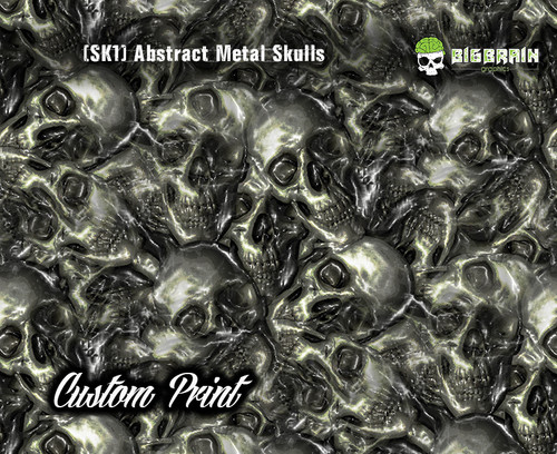 Custom, Print, Printed, Custom Film, Hydrographics, Designer, Metal, Skulls, Melted, SK1