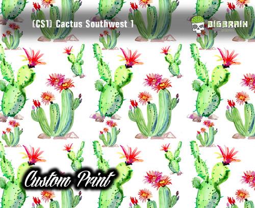 Cactus Southwest (CS1) Custom Film Pattern Hydrographics Dipped Hydrographic Film Pattern Girly Popular Trendy Big Brain Graphics Customs