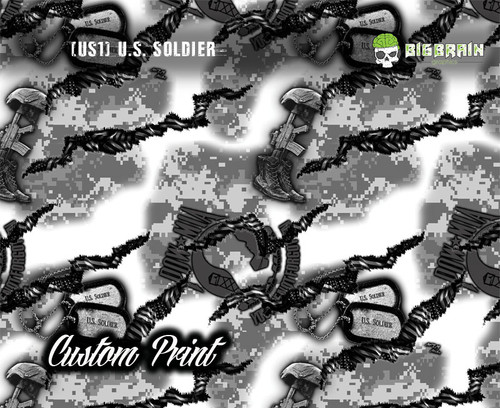 US Soldier (US1) Custom Printed Print Hydrographics Hydrographic Dipping Film Pattern Big Brain Graphics Supplier Buy Custom Film