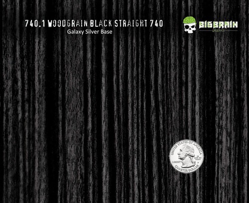 Black Straightgrain Woodgrain No Knots 740 Detailed Hydrographics Pattern Big Brain Graphics Car Interior Bulk Pricing USA Seller Galaxy Silver Base Quarter Reference