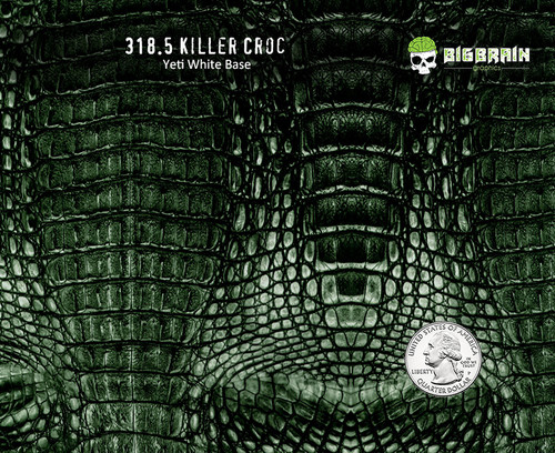 Killer Croc Crocodile Reptile Alligator Skin Pattern Big Brain Graphics Hydrographics Film Dip Hydrographic Pattern USA Seller Yeti White Base w/Quarter Reference