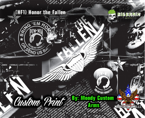 Honor the Fallen Custom Hydrographics Dipping Hydrographic Film Pattern Vietnam Memorial Military Honor Veteran Big Brain Graphics in Conjuction with Moody Custom Arms Louisiana