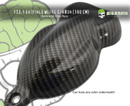 Entwined Weave Carbon Fiber 100 CM Width Dark Hydrographics Film Big Brain Graphics Dipping Film Hydrographic Big Brain Graphics Galaxy Silver Base on Speed Shape Buy Film