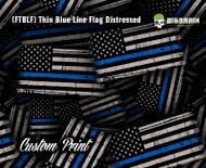 Thin Blue Line Distressed Flag Hydrographics Hydrographic Dip Film Big Brain Graphics Custom Film Print Buy Film