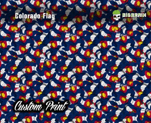 Colorado US USA State Flag Hydrographics Hydrographic Dip Film Big Brain Graphics Custom Film Print Buy Film