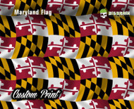 Maryland State Flag US USA State Pride Hydrographics Custom Film Printed Hydrographic Film Big Brain Graphics
