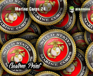 Marine Corps 24 Emblem Medallion Logo Big Brain Graphics Hydrographic Film Dip Hydrographics Buy Supplies