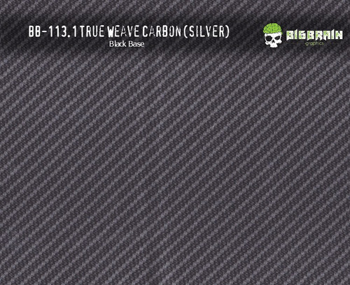 True Weave Silver Metallic Carbon Fiber Hydrographics Pattern Black Base Film Big Brain Graphics Buy