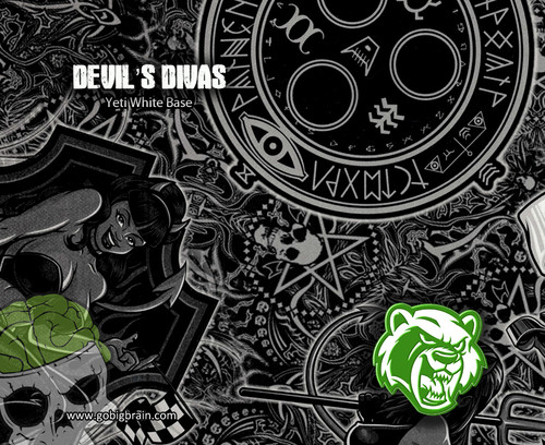 Devil's Divas Naughty Girl Sexy Chicks Girls Women Hydrographic Film Hydrographics Pattern Big Brain Graphics Yeti White Base