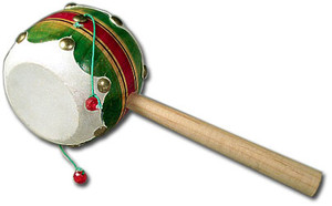 Mexican Wooden/Leather Toy Drum