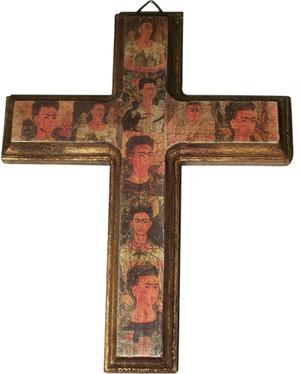 Frida Kahlo Wooden Cross
