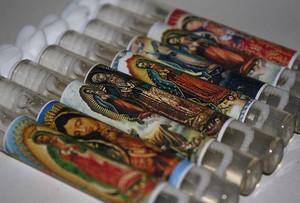 Virgen de Guadalupe Wedding Bubble Favors