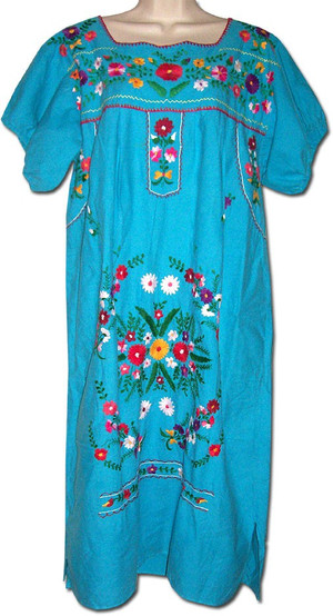 Embroidered Vintage Mexican Dress L/XL