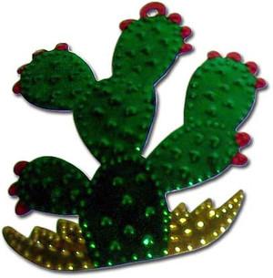 Mexican Tin Christmas Ornament - Cactus Nopal