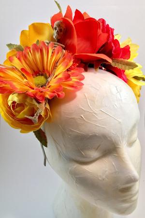 Calavera flower crown