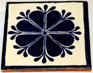 Mexican Talavera Tile - Blue