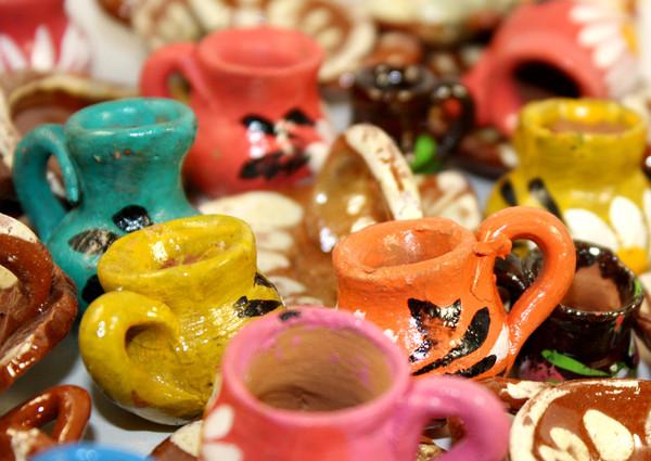 Mini Party Favor Mexican Clay Pots Dollhouse Miniatures - Set of 10