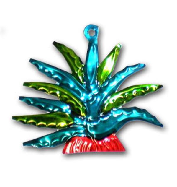 Mexican Tin Christmas Ornament - Cactus