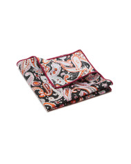 Pocket Square, Paisley, Pink