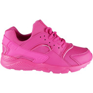 """""""EMMA"""" Fuchsia Lace Up Running Gym Trainers"""