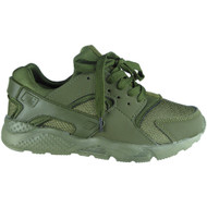 """EMMA"" Green Lace Up Running Gym Trainers"