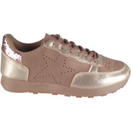 """ALFREDA"" Pink Fitness Gym Light Sports Comfy Lace Up Shoes"