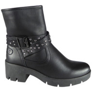 """AVRIL"" Black Studded Ankle Boots"