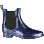 ''FABLE'' Navy Glitter Wellington Ankle Boots