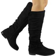 """""""LORNA"""" Black Zip Slim Heel Mid Calf Boots"""