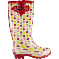 """WESLEY"" Spotty Cuban Heel Wellington Boots"