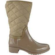 """SHIRLEY"" Camel Zip  Cuban Heel Wellington Boots"