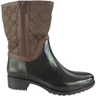 """ULIMA"" Brown Mid Calf Wellington Boots"
