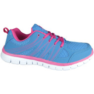 """JANELLE"" Blue Lace Up Flat Runner Trainers"