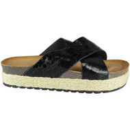 Peg Black Espadrilles Flat Slippers