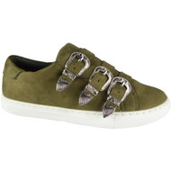 Henley Green Slip On Flat Trainers