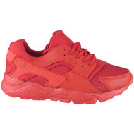 """EMMA"" Red Lace Up Running Gym Trainers"
